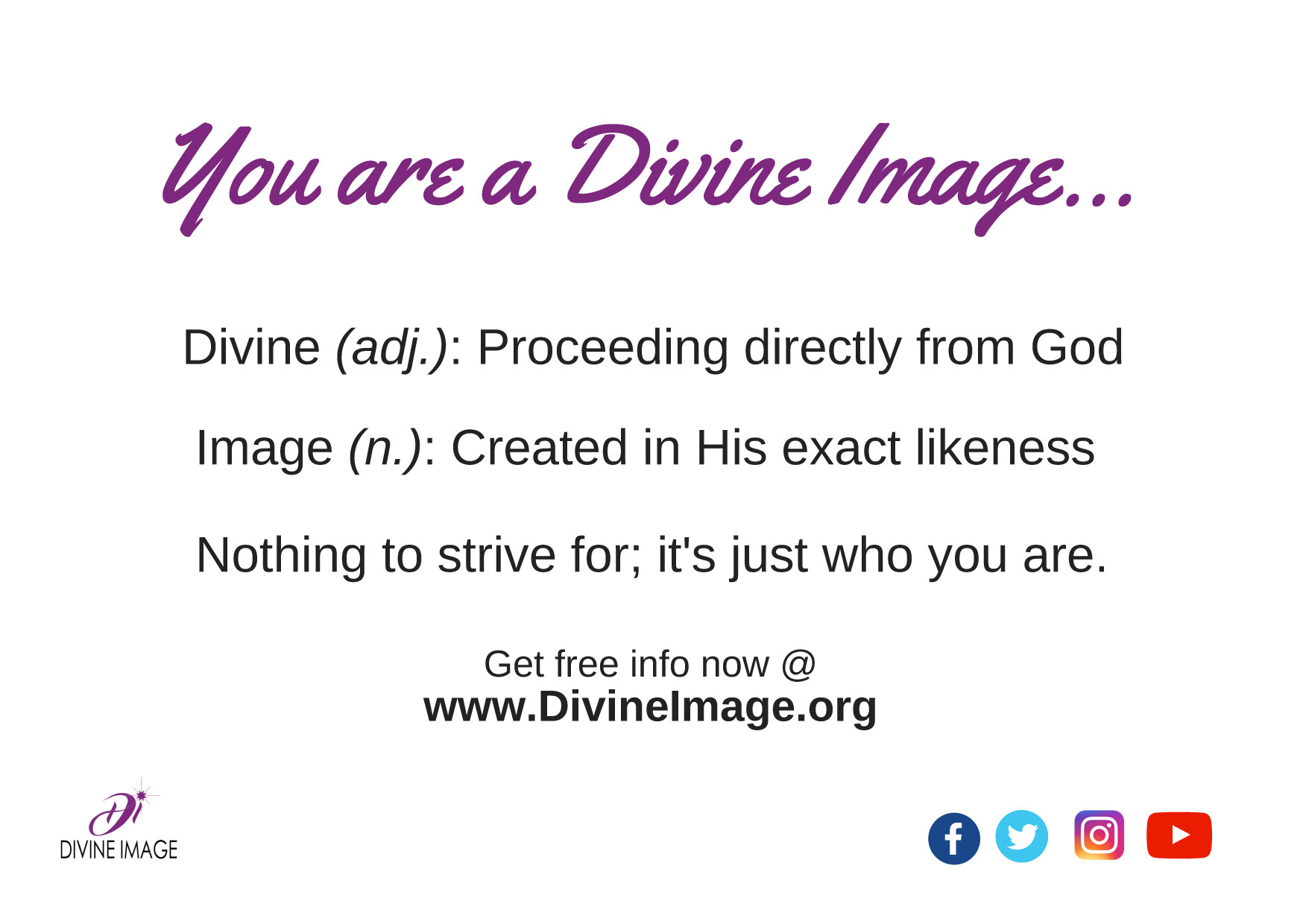 You Are a Divine Image